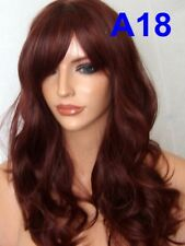 FULL WOMENS FASHION COSTUME LONG HEAT RESISTANT BROWN BLONDE BLACK & RED WIGS UK