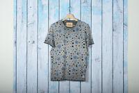 T-shirt Uomo BOB Company Beat 163 Maglia Stampa Star Celeste Saldi 50% NUOVA