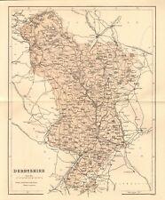 original 1868 colour map of derbyshire