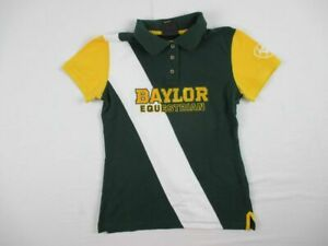 Baylor Bears Ariat Polo Women's Green/White/Yellow Used