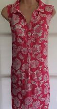 BNWT WHITE STUFF 12 Pink white floral sleeveless long tunic summer blooms