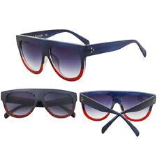 Mujer Inspirado Plano Top ESCUDO Carey Gafas de sol KIM CELEBRITY Ovalado Gafas