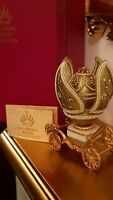 Faberge Egg 24k GOLD ONLY ONE Unique Music Russian Tsar RING box Real eggs HAMDE