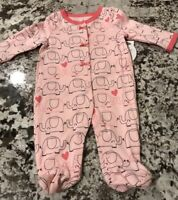 NWT BABY GIRL ONE PIECE PAJAMAS SIZE 0-3 MONTHS