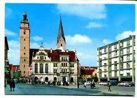 uralte AK Ingolstadt/Donau Rathausplatz mit Moritzkirche //27