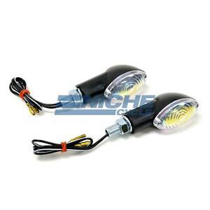 """2.5"""" Mini Cateye Turn Signals Lights 12 Volt Black Neon"""