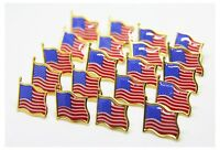 100 AMERICAN FLAG LAPEL PINS United States USA Tie Tack Pin SHIPPED from US