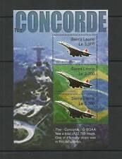 SIERRA LEONE SGMS 4184 ultimo volo del Concorde minisheet Gomma integra, non linguellato