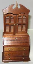 VINTAGE WALNUT SECRETARY DOLLHOUSE FURNITURE  MINIATURES