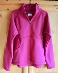 Women's Columbia Pink Omni Wick Jacket Full Zip Size XL