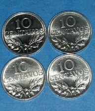 Portuguese 10 Centavos Lot of 4 UNC 1975  ID #16