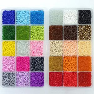Rocailles 3mm Perlen Set Mini Glasperlen Auffädeln Box Bunt Armband Basteln ★★