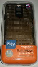 Spigen SLIM ARMOR Dual Layer Hybrid case for Samsung Galaxy S5, Gold & Black