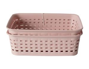 2 x Pack Plastic Handy Baskets Kitchen Home Office Storage Basket Organizer