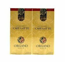 2 Boxes, Organo Gold Cafe Latte Gourmet Coffee, New/Sealed, Same Day Shipping