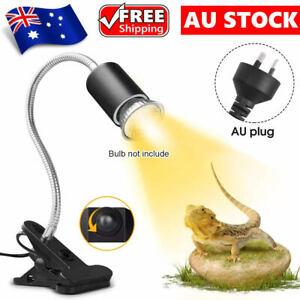 Ceramic Heat Lamp Light Holder Clamp For Reptile Pet Turtle Brooder E27 AU Plug