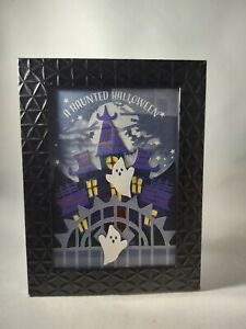 Halloween A Haunted Halloween Party Purple and Gray Home Decor 3D Picture Frame
