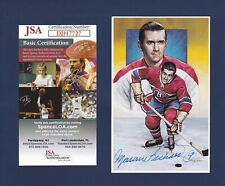 Maurice Richard signed Canadiens 1992 Legends of Hockey HOF postcard Jsa
