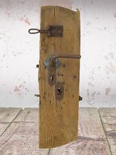 altes Kastenschloss Türschloß mit Türdrücker und Beschlag, + Riegel