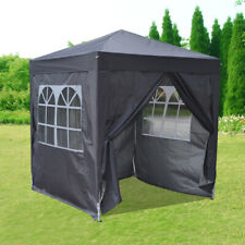 Waterproof Grey 2m X 2m Pop Up Gazebo Marquee Garden Awning Party Tent Canopy