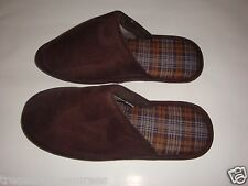 John Ashford Faux Suede Indoor/Outdoor Slippers ~ Size XL (11-12)