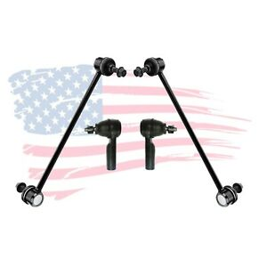 4 Pc Outer Tie Rods Sway Bar Kit For Ford Escape Mercury Mariner Mazda Tribute