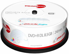 25 Primeon Rohlinge DVD+R Double Layer full printable ultragloss 8,5GB Spindel