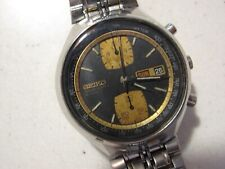 Vintage SEIKO JOHN PLAYER SPECIAL AUTOMATIC WATCH 6138-8030 Two Tone Chronograph