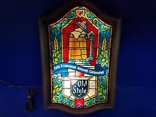 (VTG) 1979 Old Style Beer stained glass looking light-up sign Game Room man cave