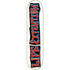 "Life Extension Skateboards Strip Red Skateboard Deck - 8.38"" x 32.5"""