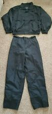 Tres Bien Mens Black Full Rain Suit Jacket + Pants Size Xl Golf Hiking