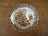 """Churchill England CURRIER & IVES HARVEST BROWN Dinner Plate 10 3/8""""  3 available"""