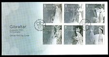 Gibraltar 2017 Queens Sapphire Jubilee 65th Accession First day Cover FDC
