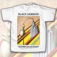 Black Sabbath Technical Ecstasy album V1 T shirt WHITE Sizes S - 5XL