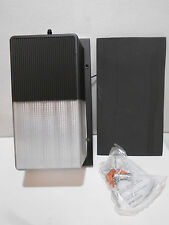 "Dusk to Dawn Outdoor LED Wall Light Black 5000K 15W 120V 10 1/2"" X 6"" Wide"
