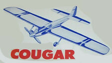 """Model Airplane Plans (Uc): Midwest Cougar 52"""" Stunt for .19-.35 (Hi Johnson)"""