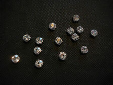 20pcs Silver sew on Rhinestones Bridal Wedding Sewing beads Any purpose diy 8m2