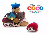 Disney Coco tsum tsum Set Miguel Hector Imelda Pepita Dante Plush New Toy 6PCS