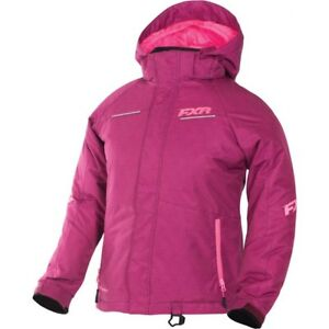 FXR™ Youth Fresh Wineberry Tri/Electric Pink Snowmobile Jacket 170401-8594-XX