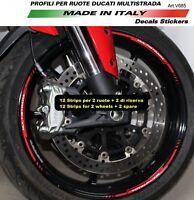 Kit Adesivi profili per ruote Ducati Multistrada 1200/1260