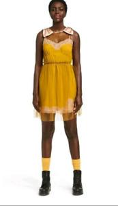 Womens Sleeveless Slip Mini Dress - Rodarte for Target Mustard Yellow - Size L