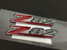 Chrome Red Z82 Emblem Badge - 1Pair