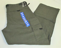 BC Clothing Men's Lined Adjustable Belted Cargo Pant Olive Green Large X 30