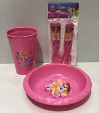DISNEY PRINCESS KIDS PLATE  / CUP / CUTLERY FOOD SET