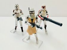 Star Wars CLONE Trooper 6ct ARMY BUILDER  (Hasbro, 2008) Variant LOT #2