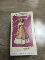 Hallmark Keepsake Ornament Springtime Barbie 3rd in Series Floral Gown 1997
