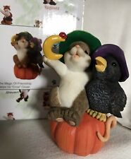 Charming Tails Figurine The Magic Of Friendship Helps Us Crow Closer Witch Nib
