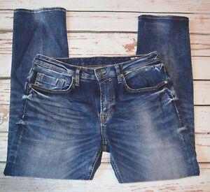 Buffalo by David Bitton Evan-X Slim Straight Jeans Mens 32x30 Blue Dark Wash