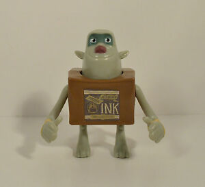 """RARE FOREIGN 2013 Ink 3.5"""" McDonald's EUROPE Movie Action Figure Box Trolls"""