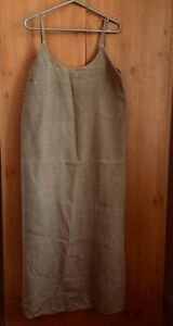 Hobbs Marilyn Anselm Design Olive Linen Strappy Dress / Pinafore Dress